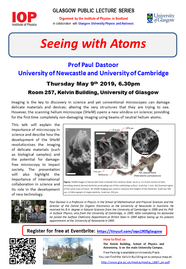 Flyer for 19/05 lecture